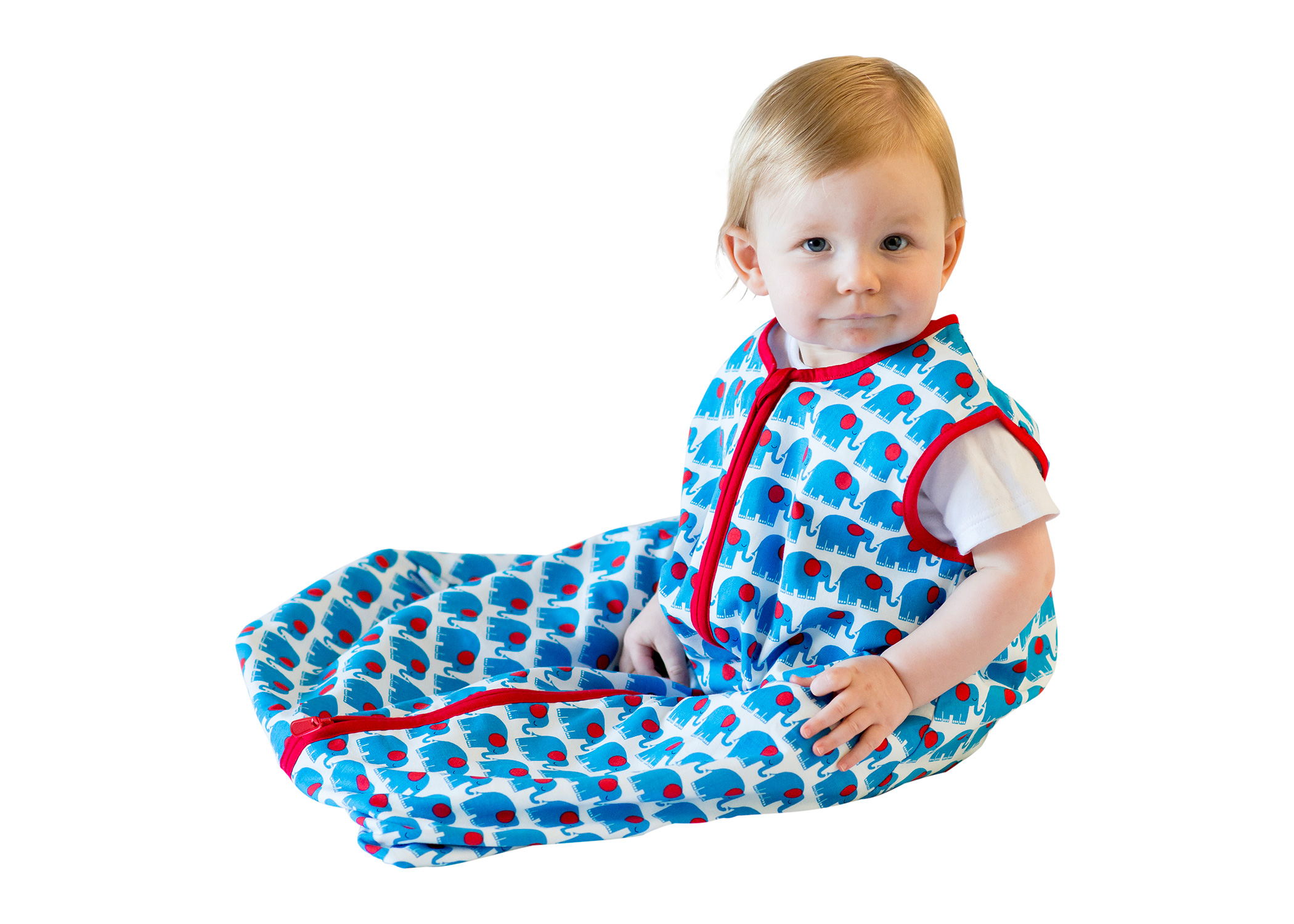 Blue Elephant Baby Sleeping Bag